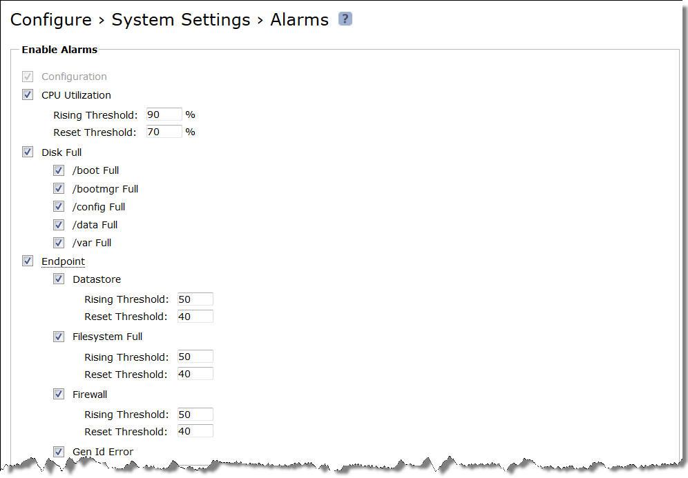 Configuring Alarm Settings
