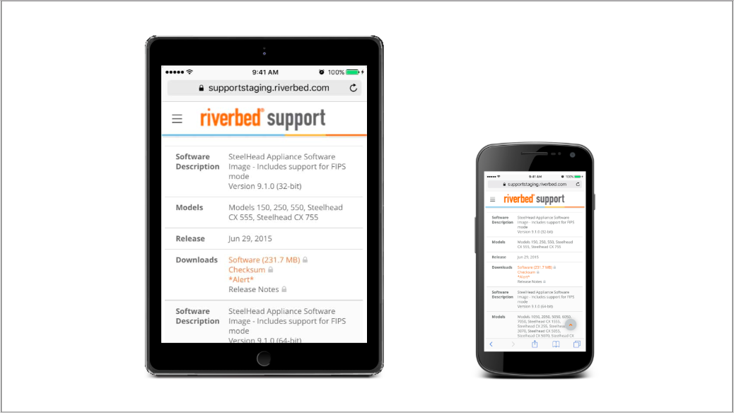 Riverbed Support: Home - Welcome
